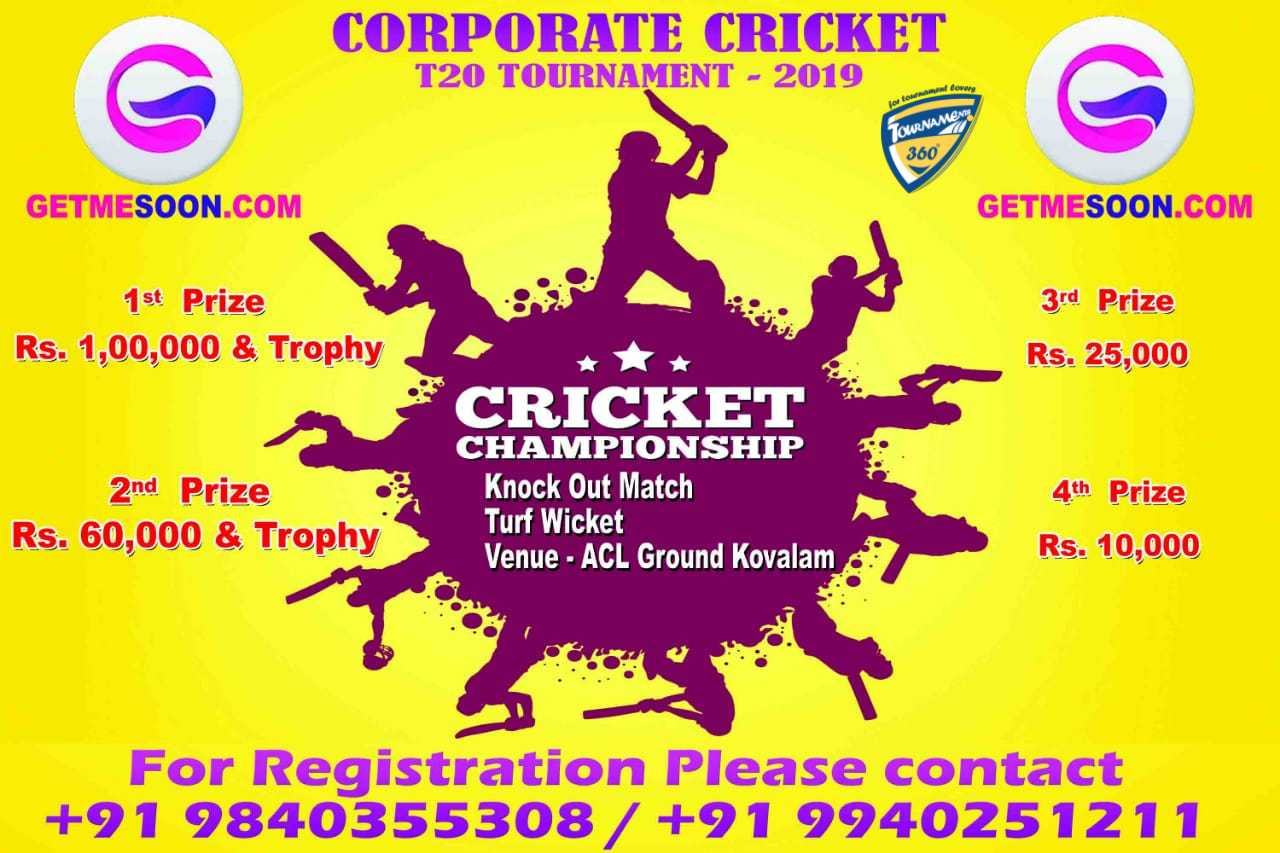 Corporate T20 Cricket Tournament 2019