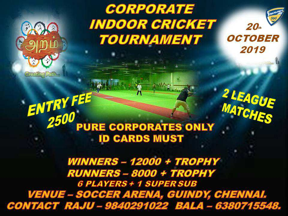 Corporate Indoor Cricket Tournament