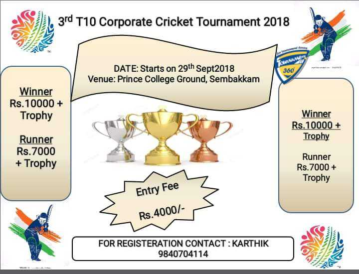 T10 Corporate Cricket Tournament 2018