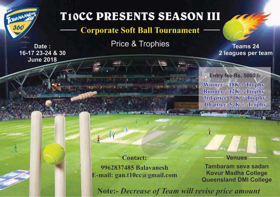 Corporate Soft Ball Cricket Tournament