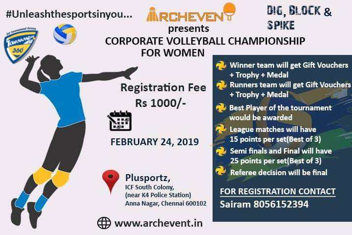 Corporate Volleyball Championship for Women
