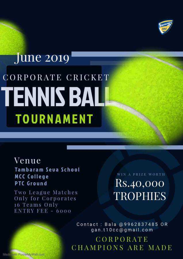 Corporate Cricket Tennis Ball Tournament