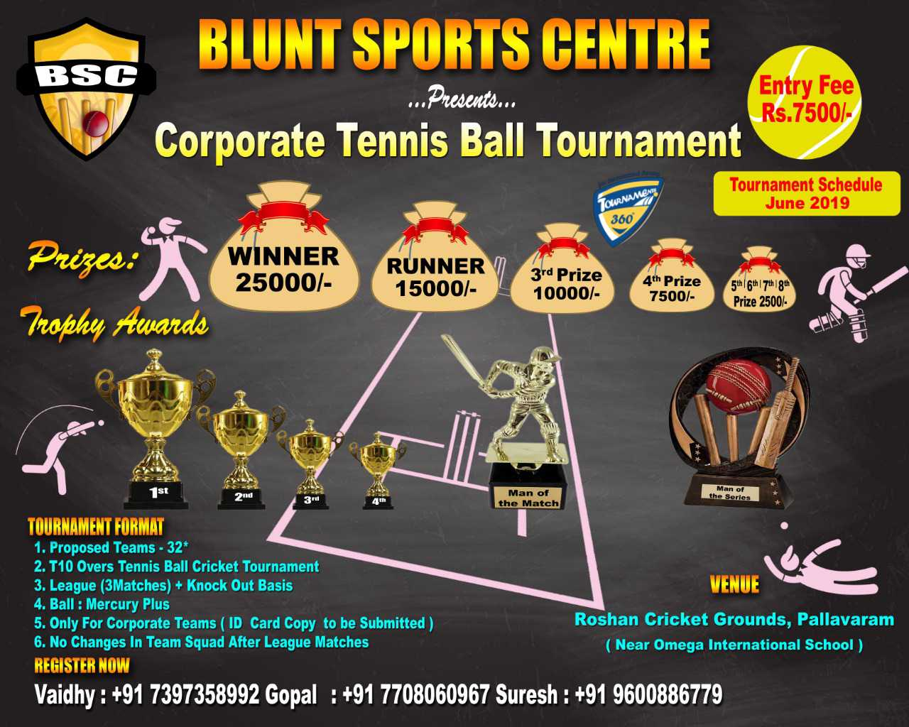 Corporate Tennis Ball Tournament