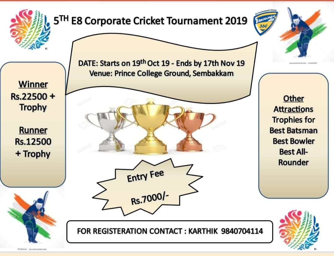 5th E8 Corporate Cricket Tournament 2019