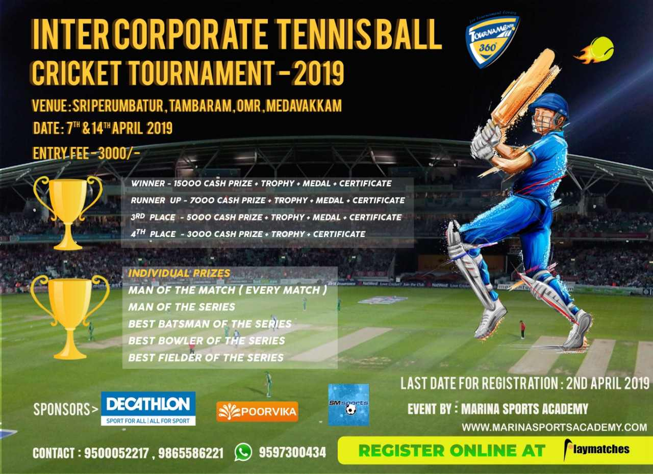 Inter Corporate Tennis Ball Cricket Tournament 2019
