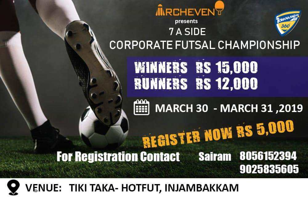 7 A Side Corporate Futsal Championship