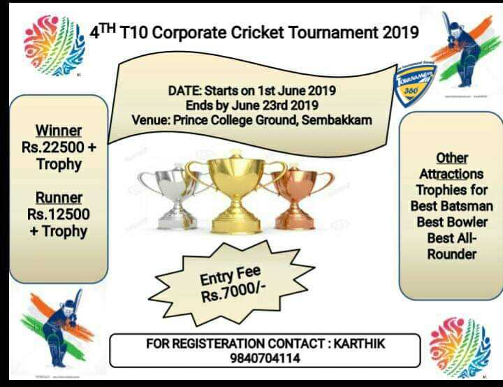 4th T10 Corporate Cricket Tournament 2019