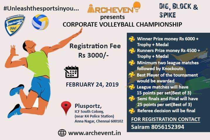 Corporate Volleyball Championship 2019