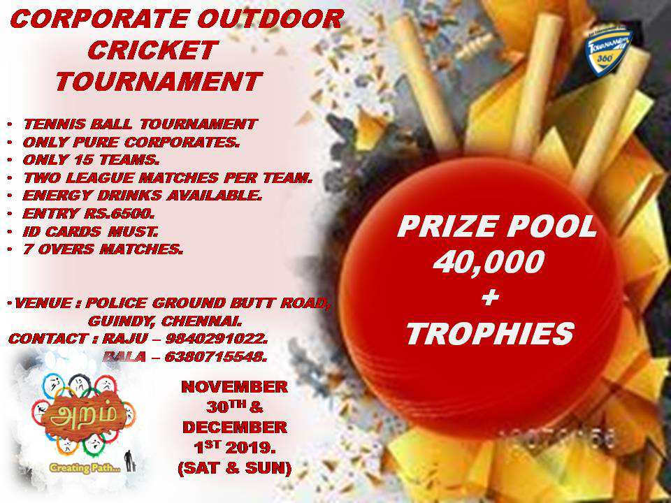 Corporate Outdoor Cricket Tournament