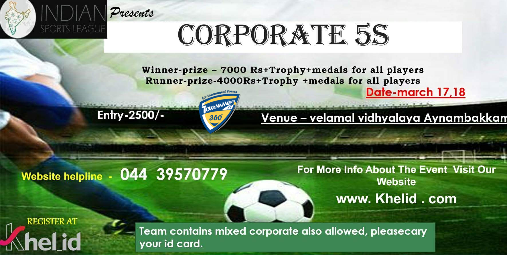 Corporate 5s Football Tournament