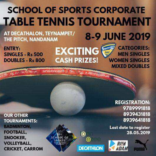 Corporate Table Tennis Tournament