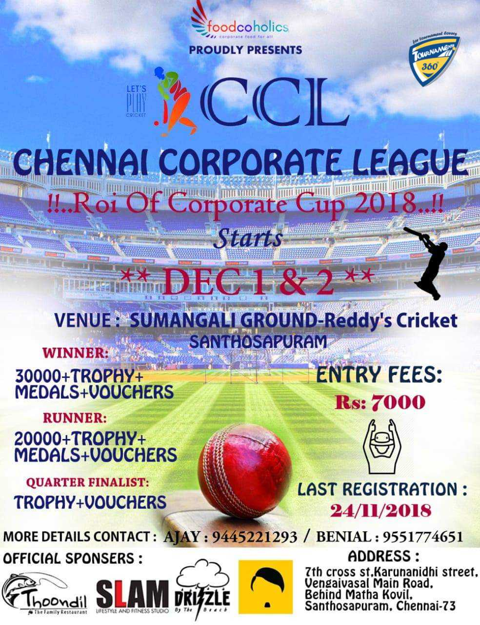 Chennai Corporate League 2018