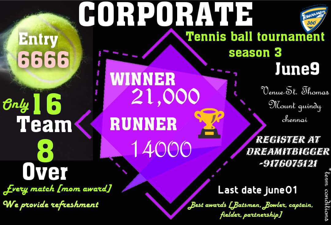 Corporate Tennis Ball Cricket Tournament Season 3
