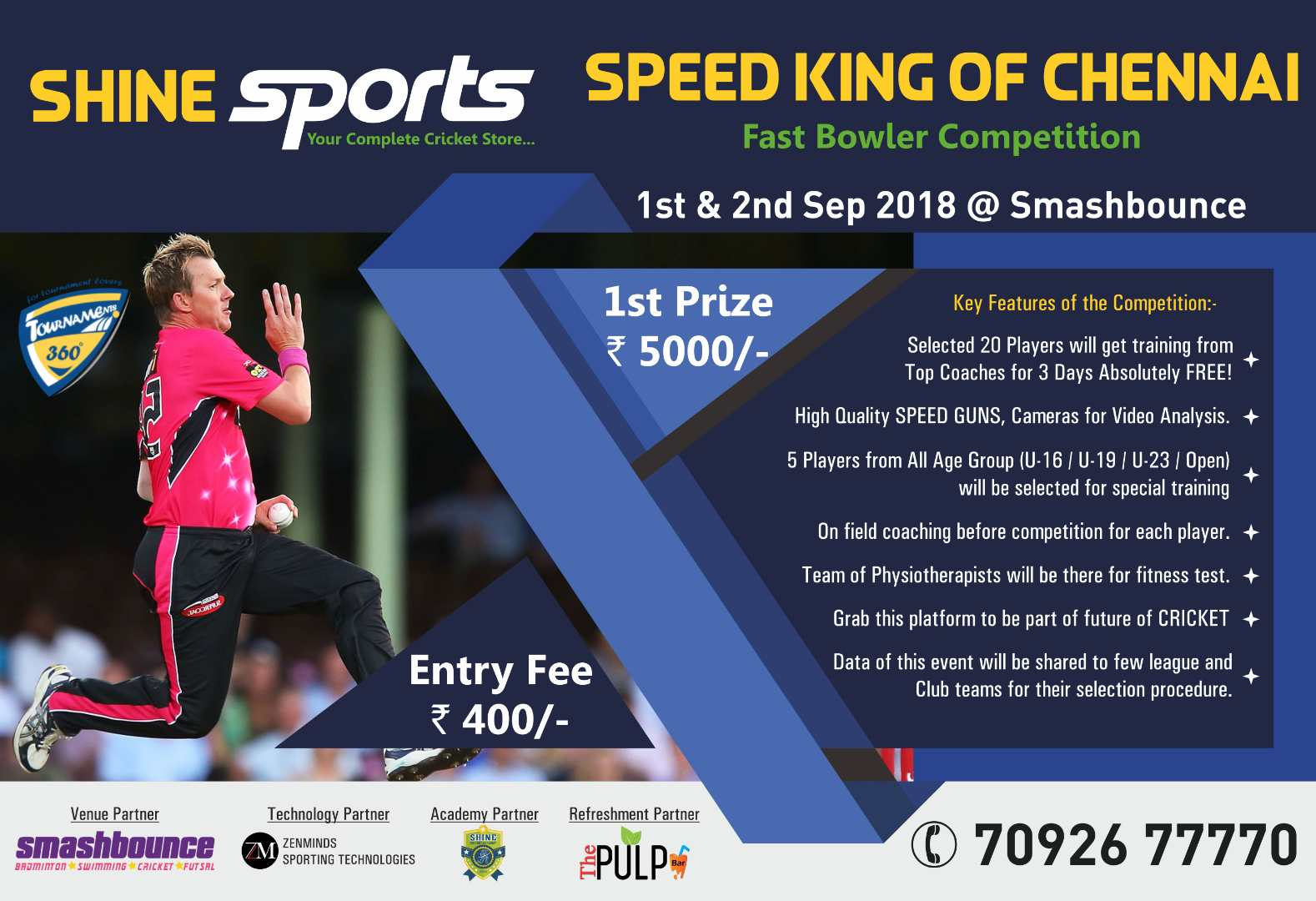 Speed King of Chennai Fast Bowler Competition