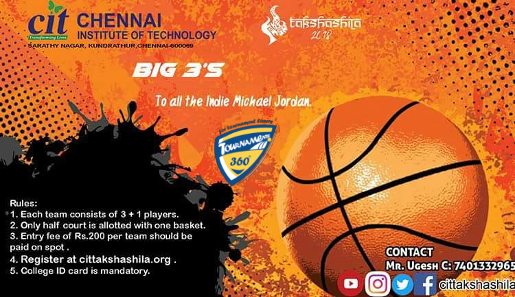 Takshashila Big 3's Basketball Tournament