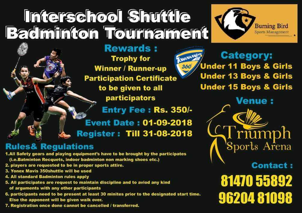 Inter School Shuttle Badminton Tournament