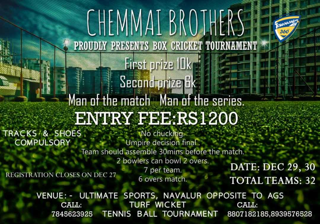 Box Cricket Tournament 2018