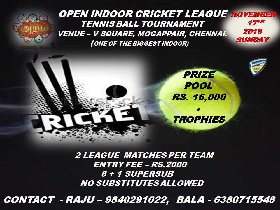 Open Indoor Cricket League Tournament