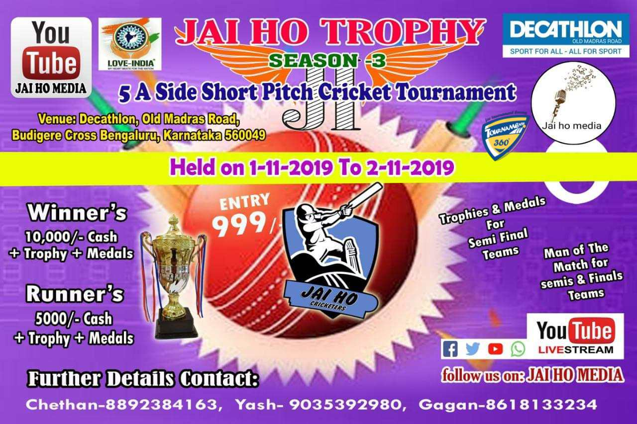 Jai Ho Trophy Season 3