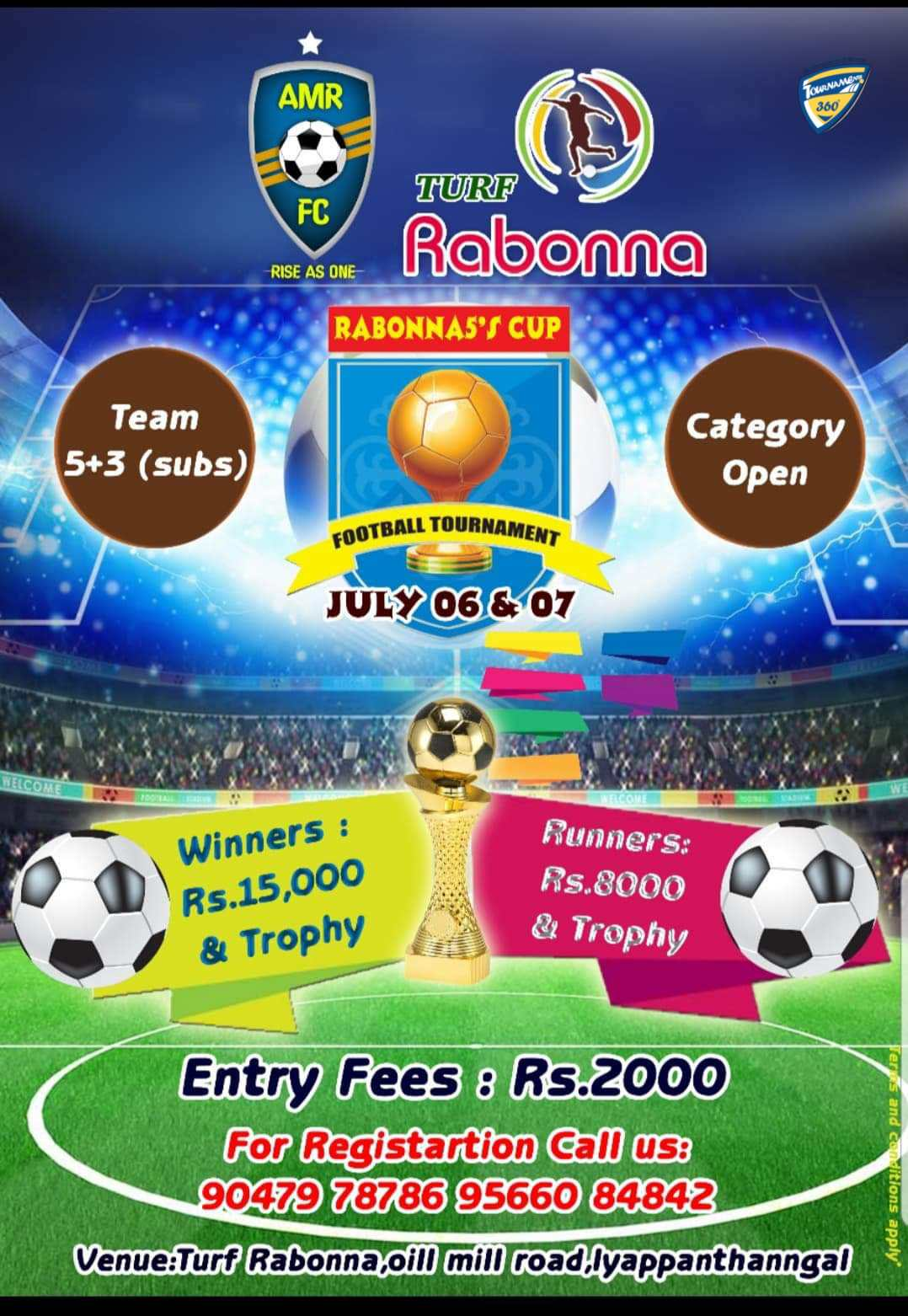 Rabonna 5s Cup Football Tournament