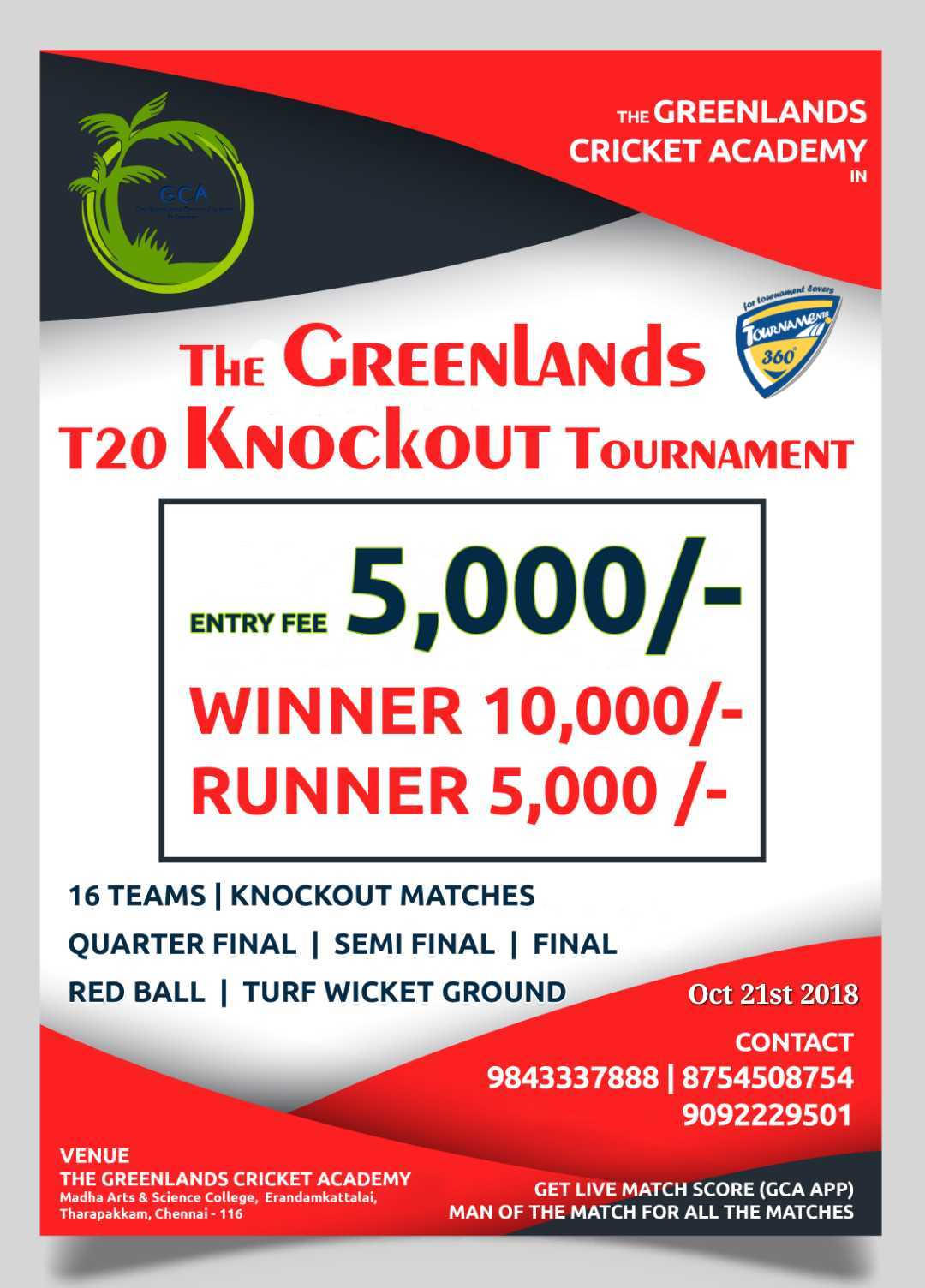 The Greenlands T20 Knockout Tournament