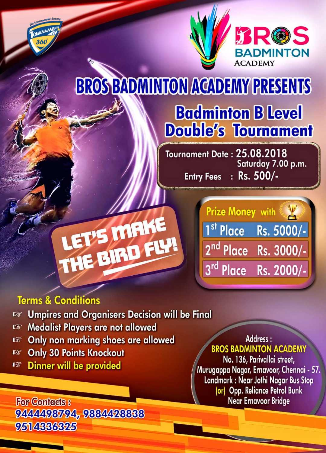 B Level Doubles Badminton Tournament