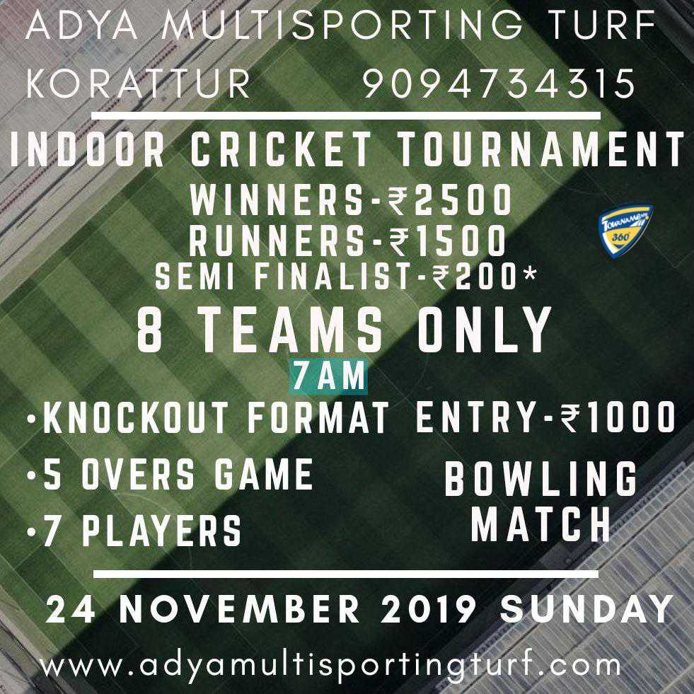 Indoor Cricket Tournament
