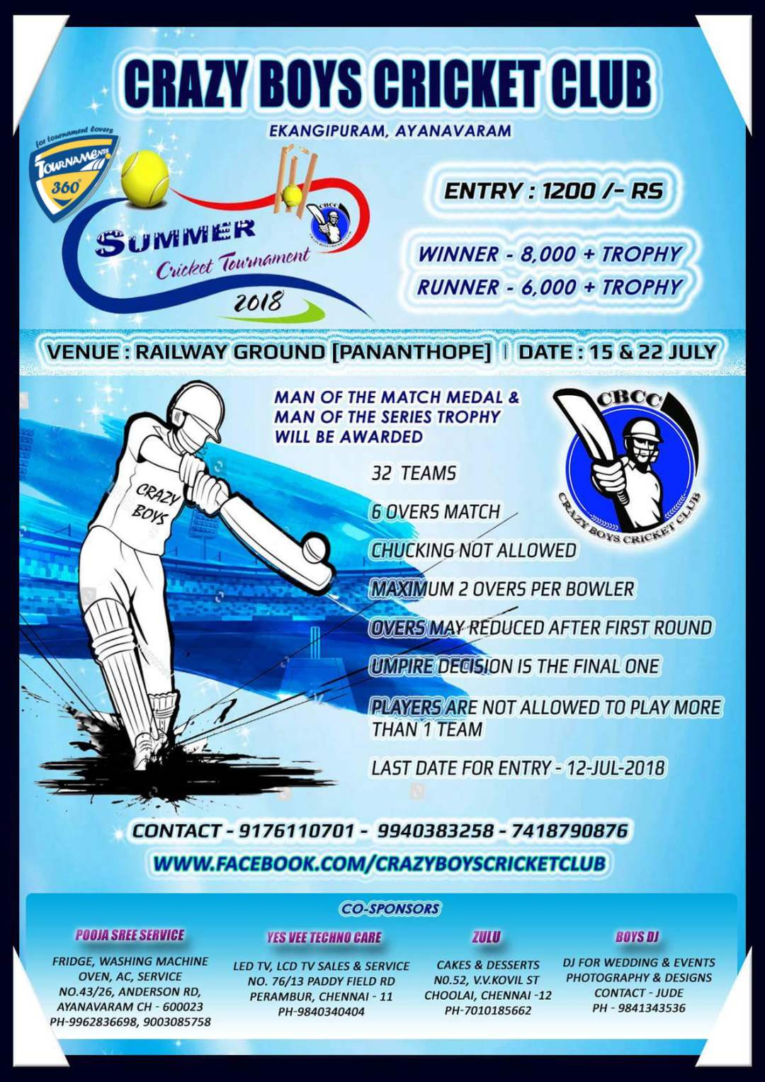 Summer Cricket Tournament 2018