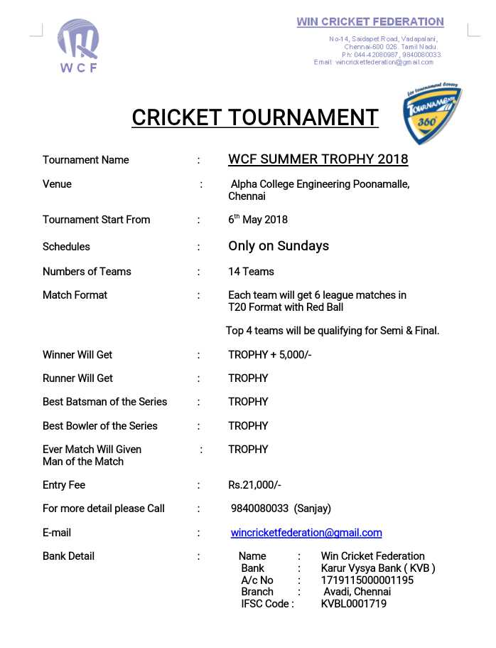 WCF Summer Trophy 2018