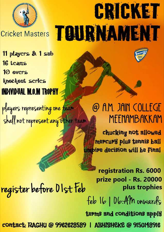 11s Cricket Tournament