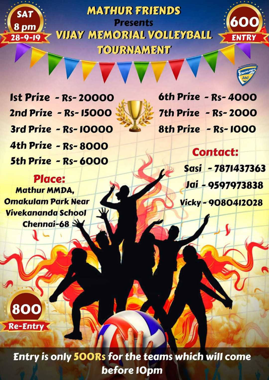 Vijay Memorial Volleyball Tournament