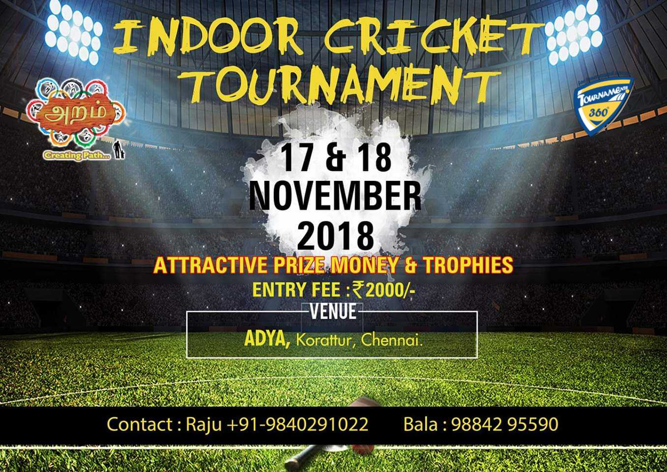 Indoor Cricket Tournament in Chennai