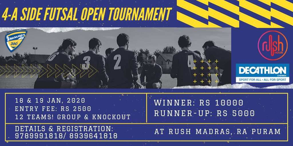 4 A Side Futsal Open Tournament