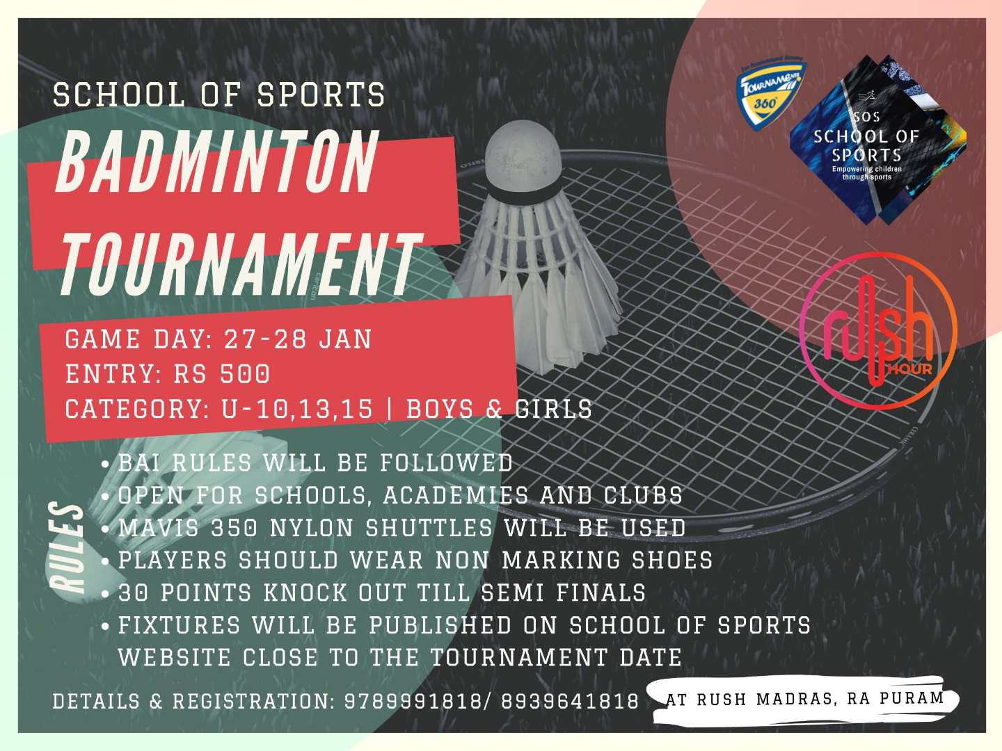 Badminton Tournament for Boys and Girls