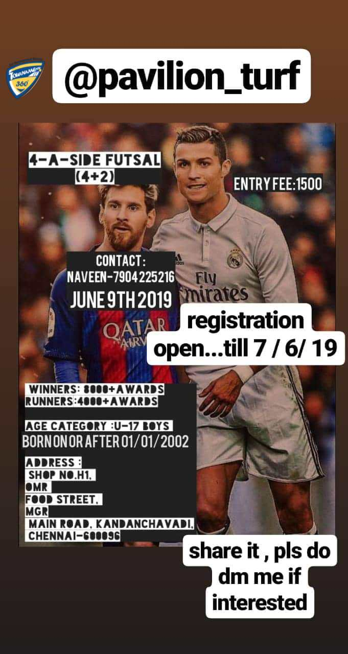 Under 17 Boys 4A Side Futsal Tournament