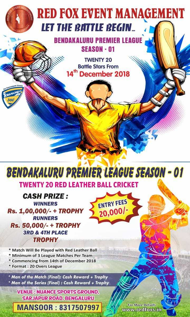 Bendakaluru Premier League Season 1