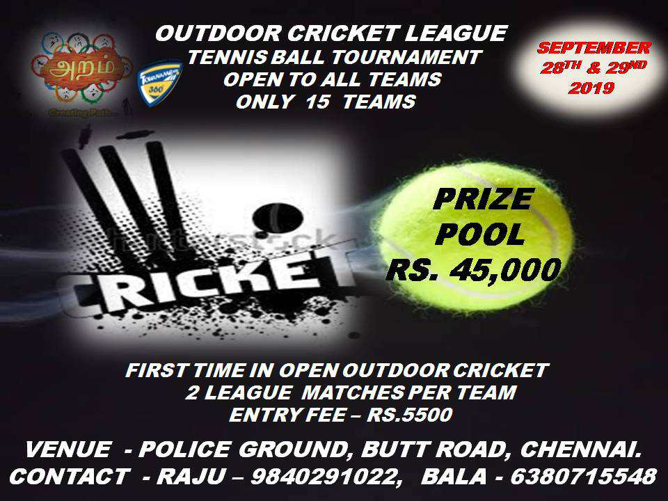 Open Tennis Ball Cricket Tournament