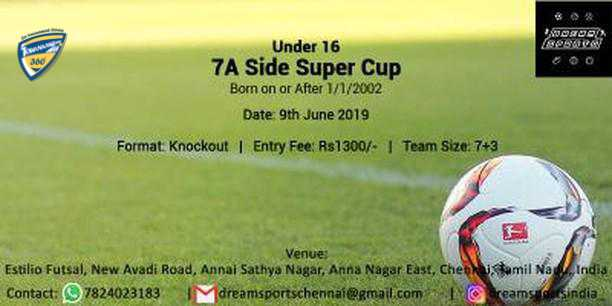 Under 16 7A Side Super Cup