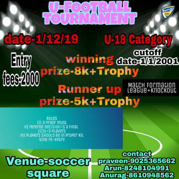 Under 18 Football Tournament
