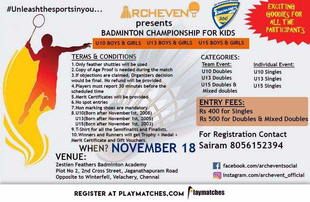 Badminton Championship For Kids