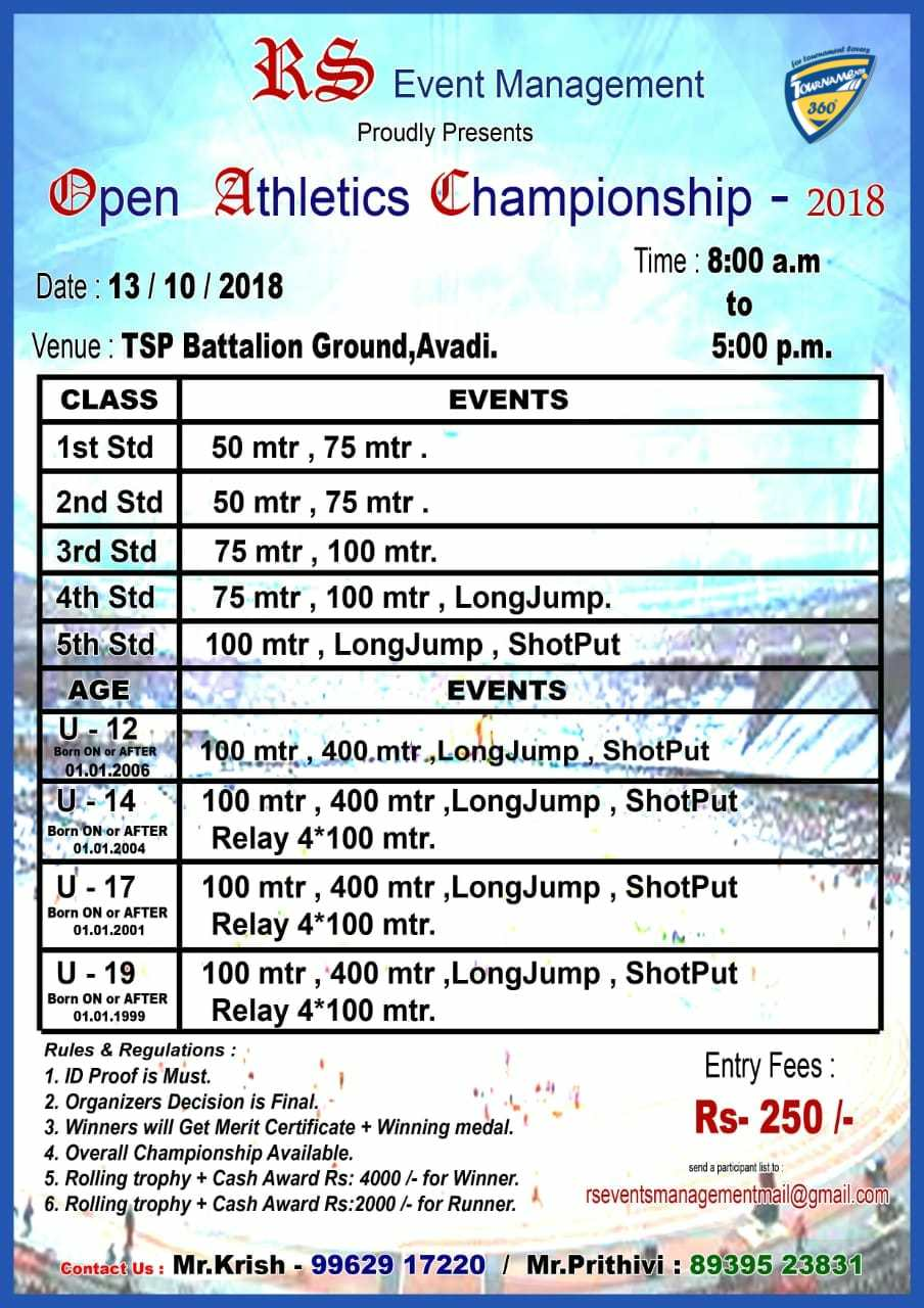 Open Athletics Championship 2018
