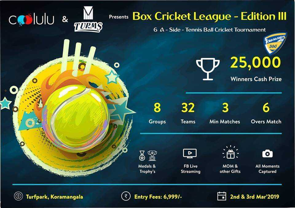Box Cricket League Edition III