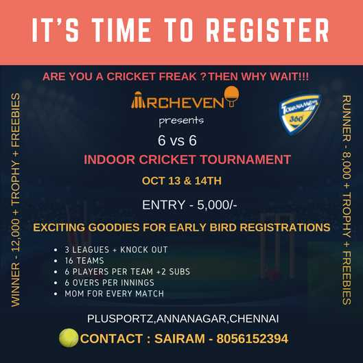 Super Six Indoor Cricket Tournament