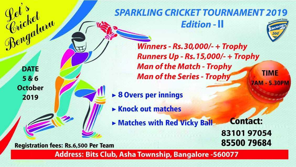 Sparkling Cricket Tournament 2019 Edition 2