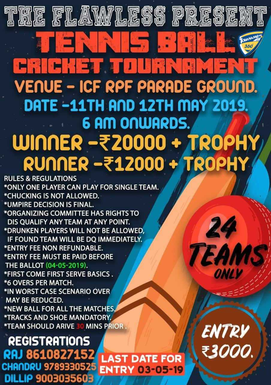 Tennis Ball Cricket Tournament