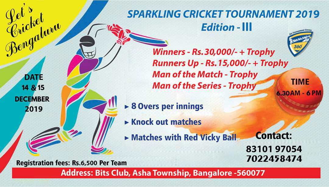 Sparkling Cricket Tournament 2019 Edition 3