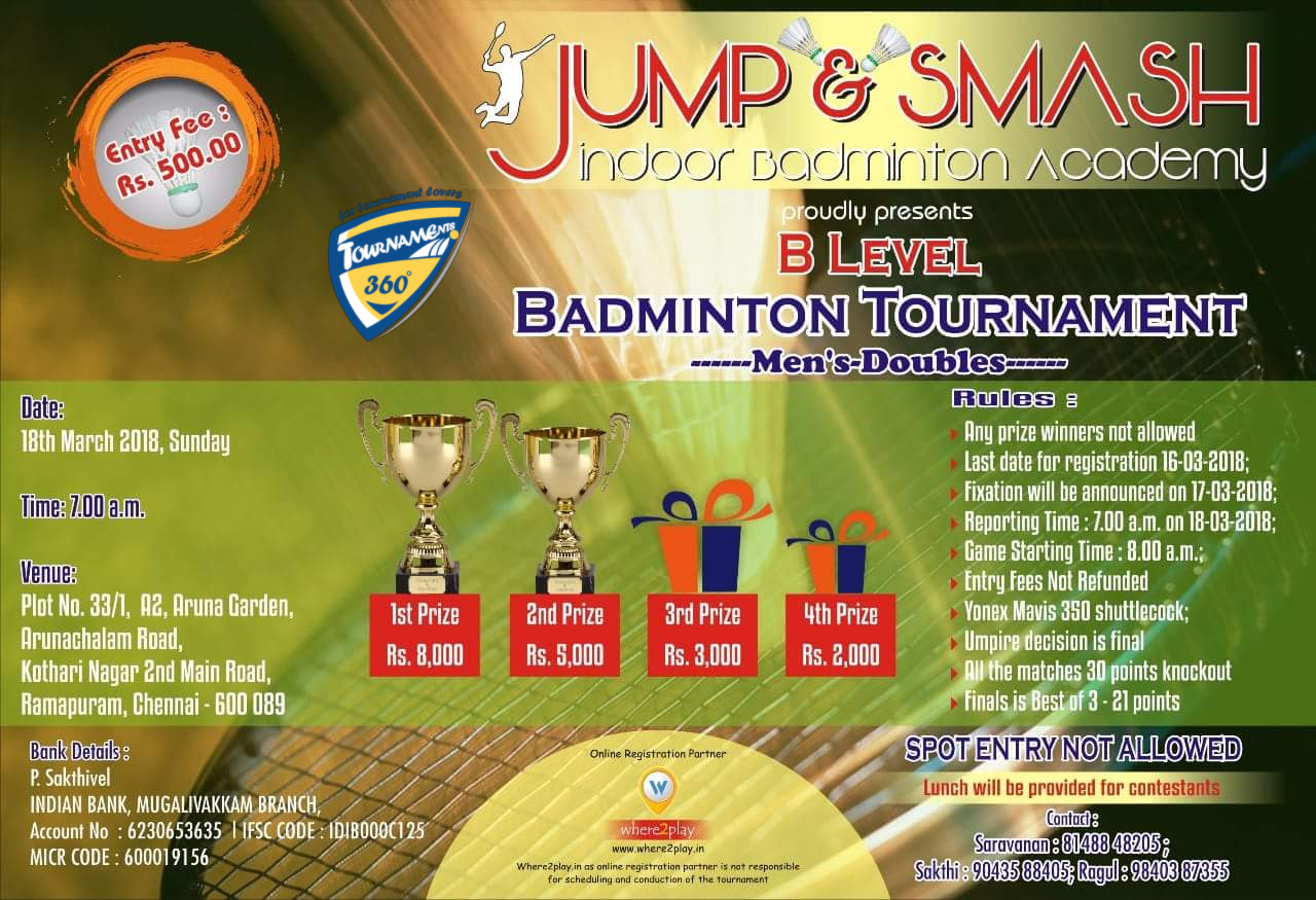 B Level Badminton Tournament
