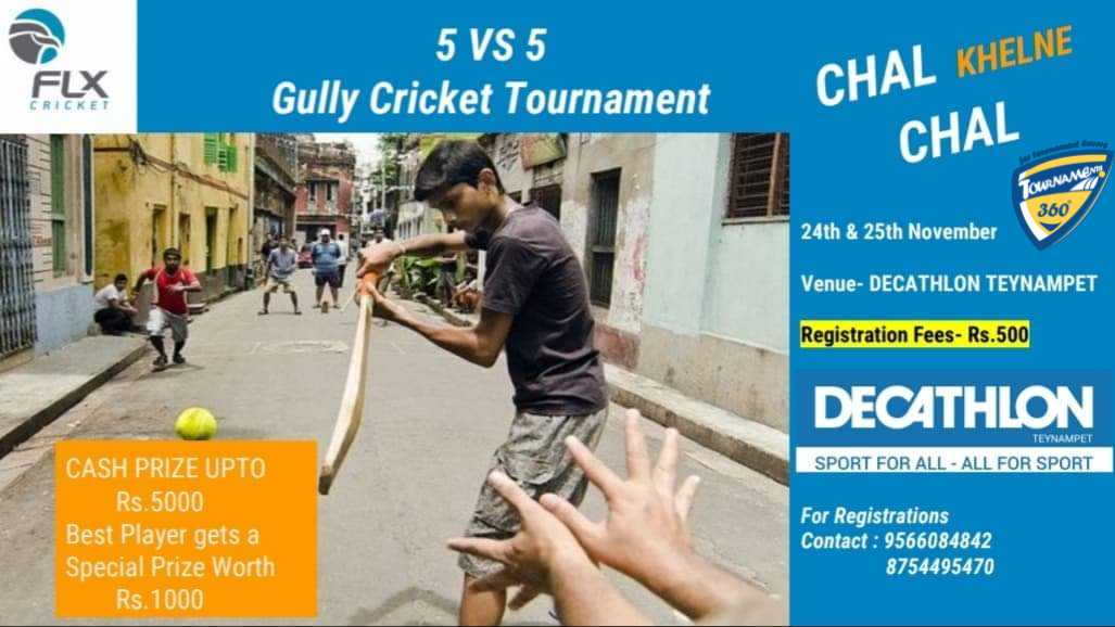 5 vs 5 Gully Cricket Tournament
