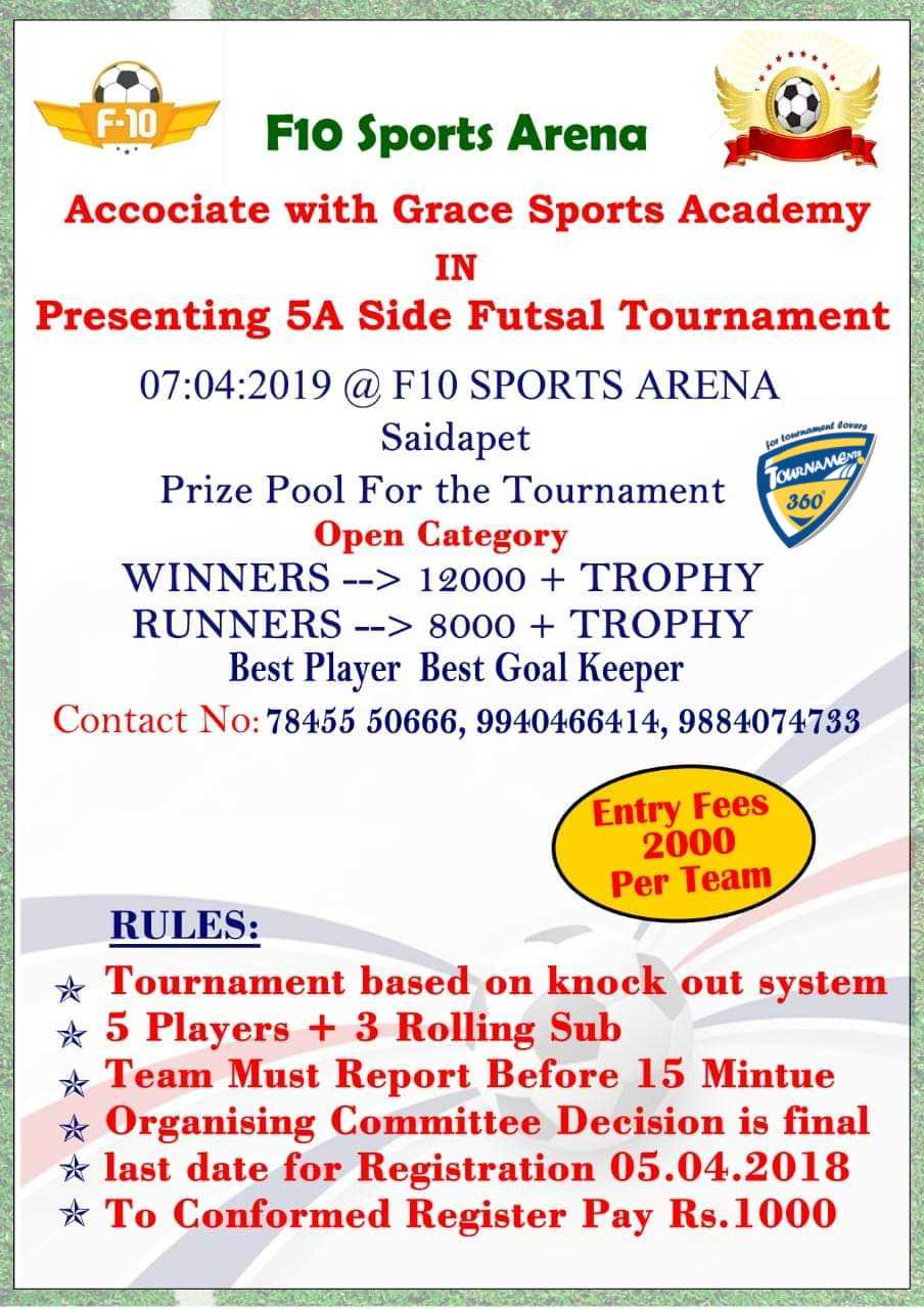 5A Side Futsal Tournament