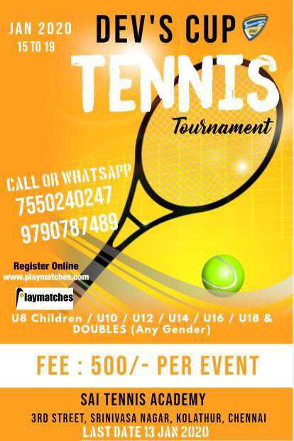 Dev's Cup Tennis Tournament